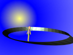 Man walking in Mobius space