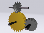 Extrusion helical gears